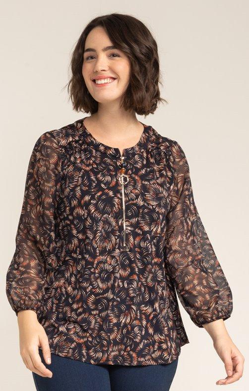 tee-shirt col rond à zip