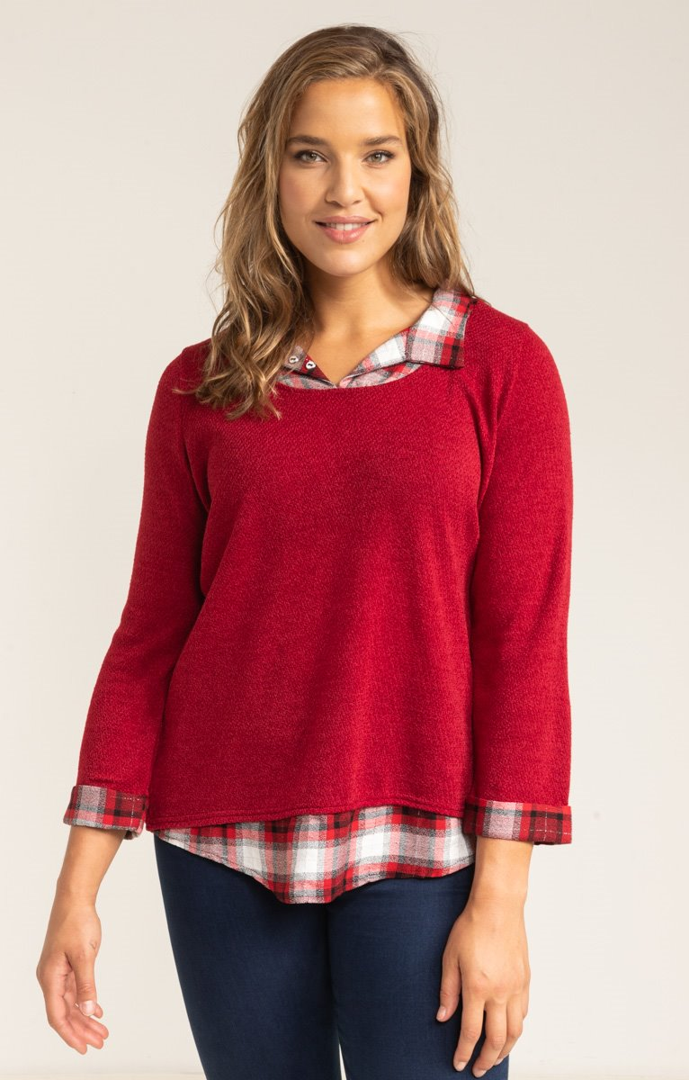 PULL 2EN1 MAILLE COUPEE COUSUE
