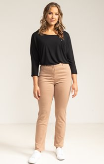Pantalon superstretch avec broderie