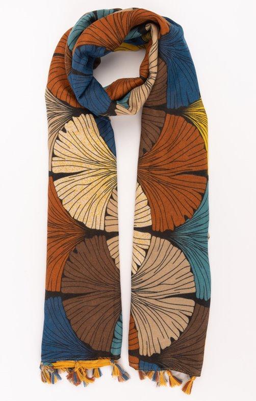 Foulard chaud avec pompon impression