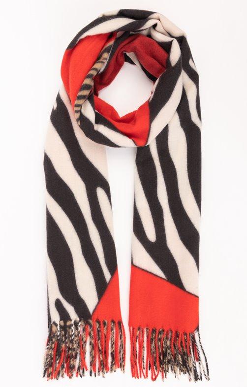 Douce écharpe imprimé zebre