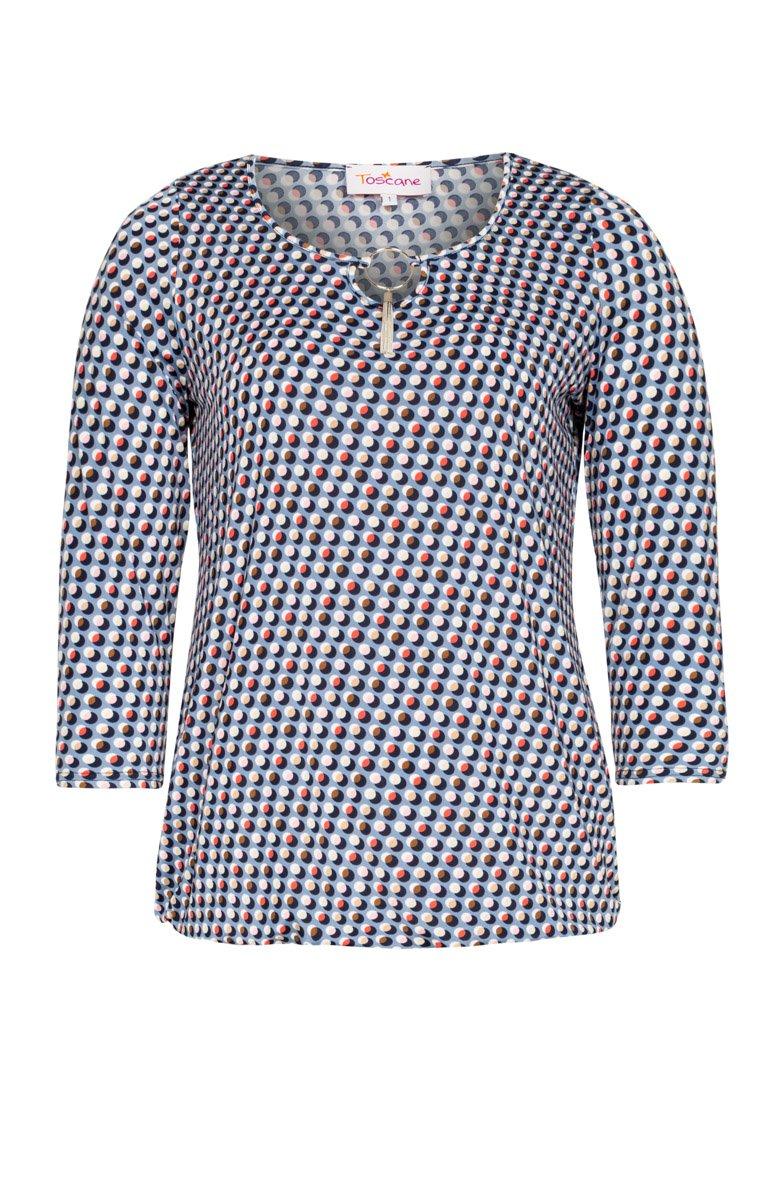 Tee-shirt imprimé avec accessoire au col
