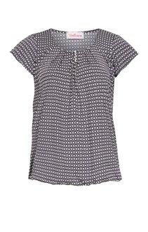 Tee-shirt avec encolure goutte et perle