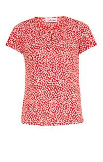 Tee-shirt imprimé fleuri avec bijoux