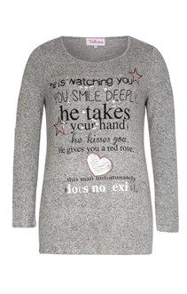 Tee-shirt avec écriture et strass