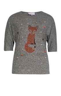 Tee-shirt chiné motif renard