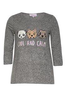 Tee-shirt chiné motifs animaux