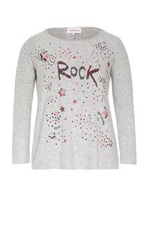 Tee-shirt chiné avec motif étoiles