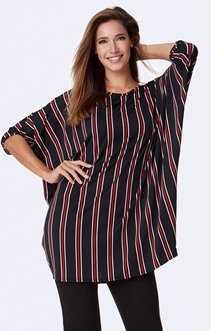 Tee-shirt oversize à rayures verticales