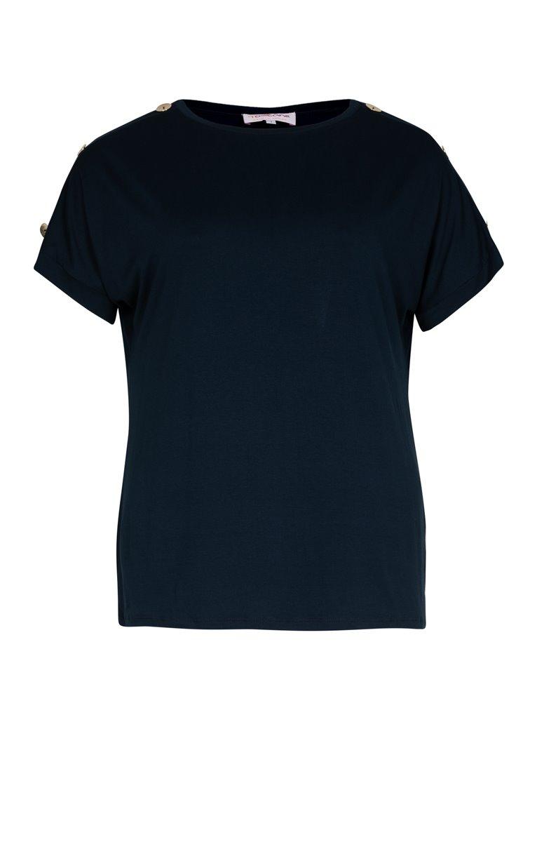 Tee shirt uni à boutons