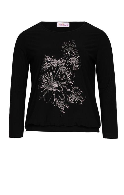 Tee-shirt avec fleur en relief