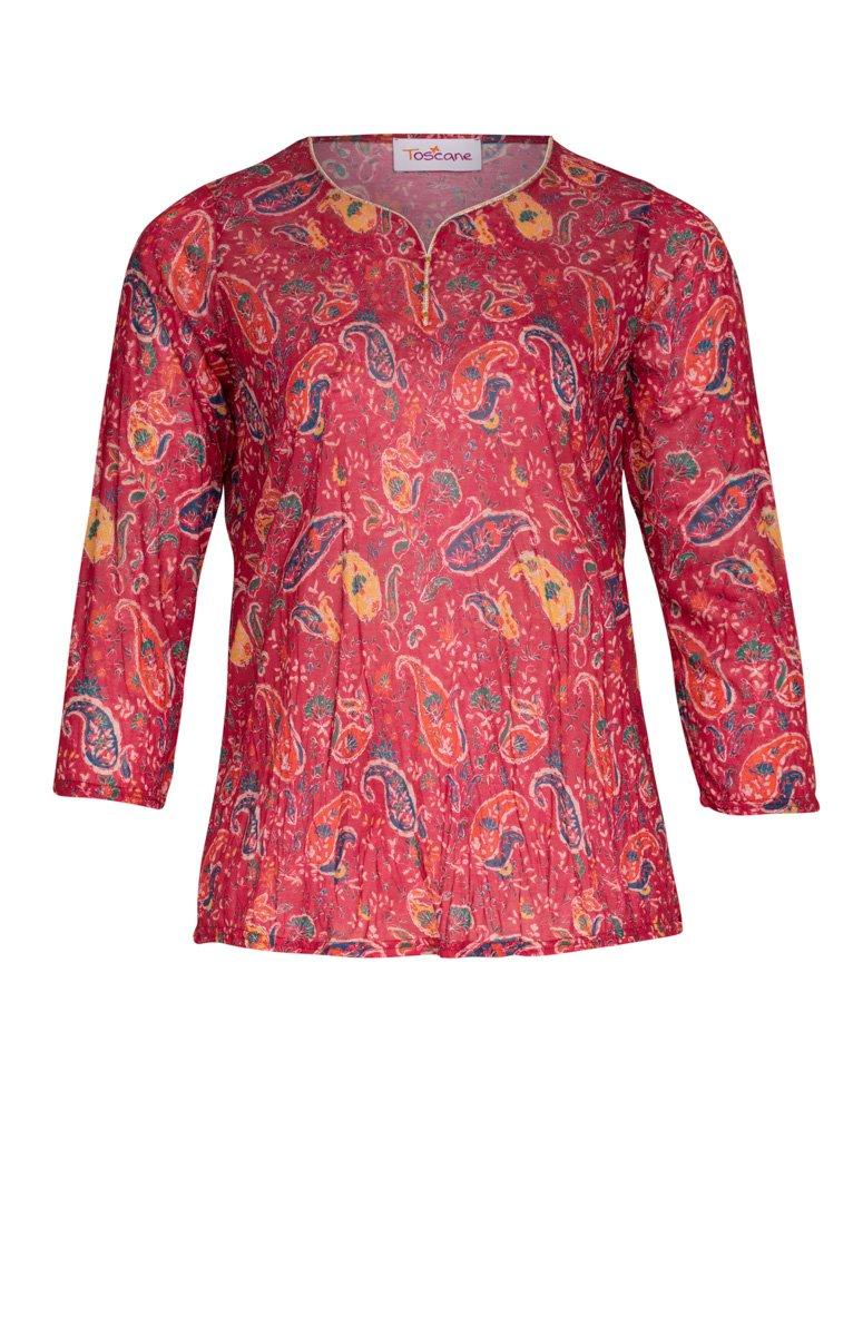 Tee-shirt imprimé aspect froissé