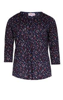 Tee-shirt imprimé fleurs col chemise