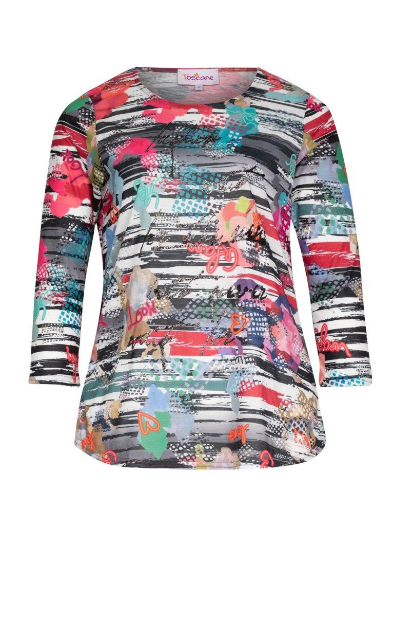 Tee-shirt imprimé avec écriture reliefé - 45,95€ - Toscane 4066c8246836
