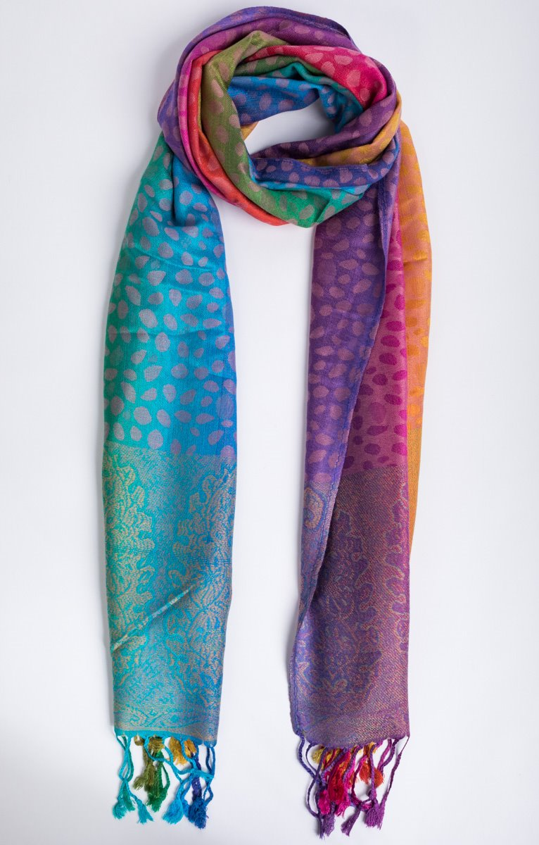 foulard arc-en-ciel