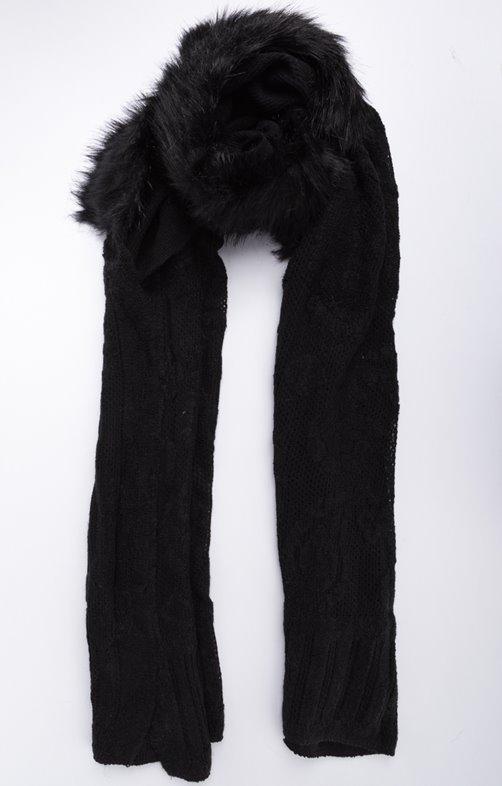 Écharpe à capuche avec fausse fourrure Plusieurs couleurs au choix ... 45e59620c9f