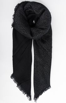 Foulard à motifs argentés