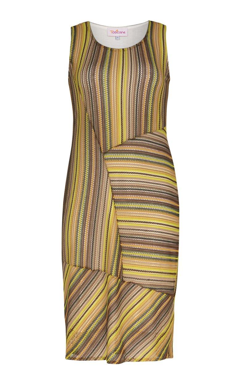 Robe patchée en filet couleur pistache