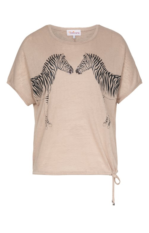 Tee-shirt avec motif zèbre
