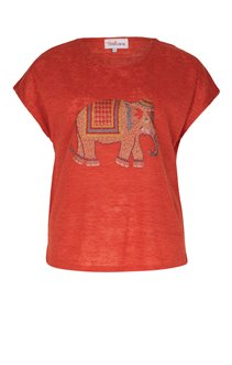 Tee-shirt avec éléphant en strass