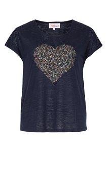 Tee-shirt avec dessin coeur