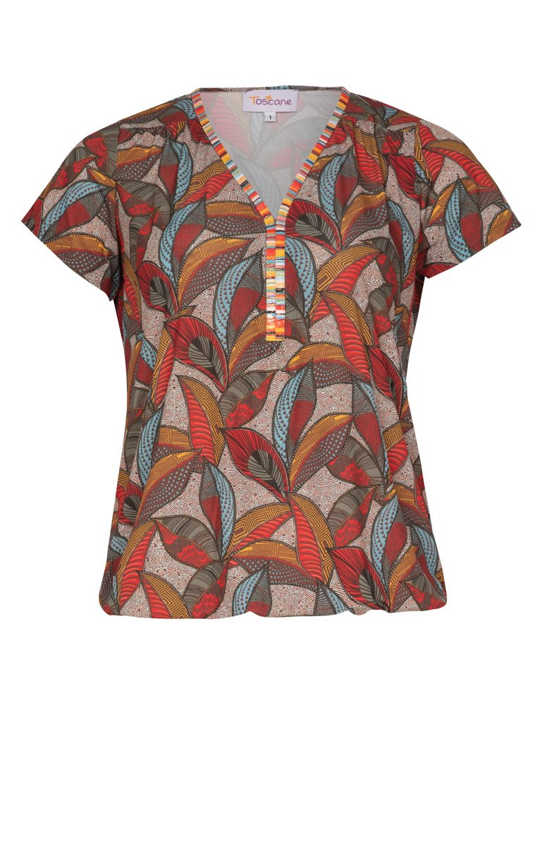 Tee-shirt col v et manches courtes
