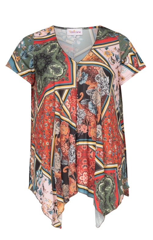 Tee-shirt imprimé évasé