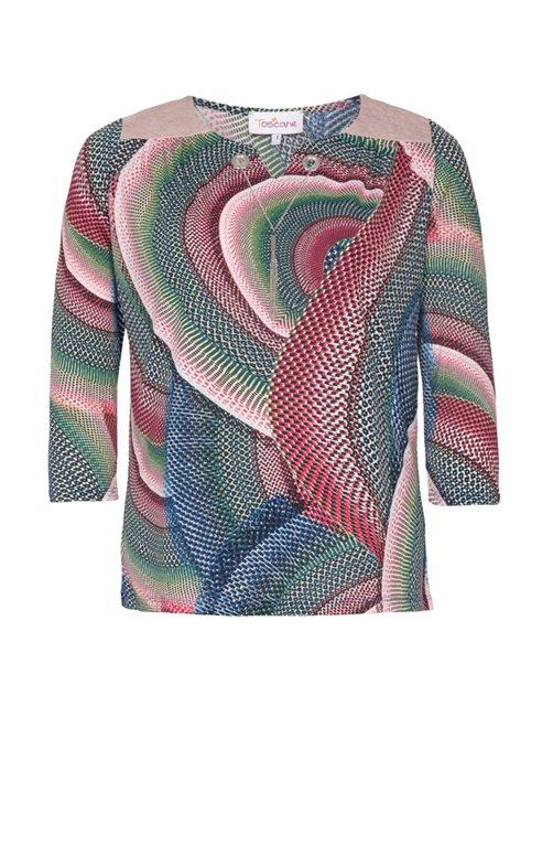 Tee-shirt imprimé oeillets et collier