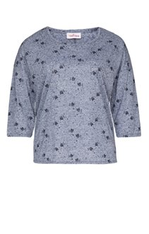 Tee-shirt imprimé à hiboux avec strass