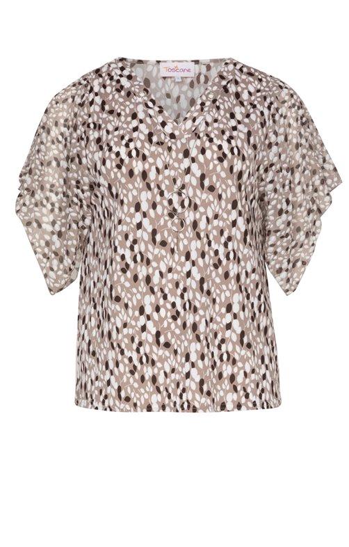 Tee-shirt imprimé avec collier