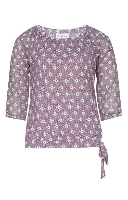 Tee-shirt avec col élastique ert noeud