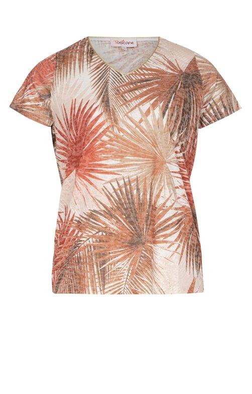 Tee-shirt imprimé feuilles
