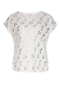 Tee-shirt avec imprimé chats argent