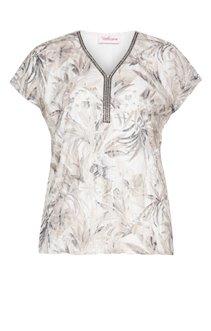 Tee-shirt imprimé avec galon au col
