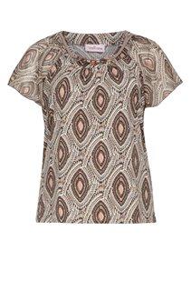 Tee-shirt imprimé avec bijou au col