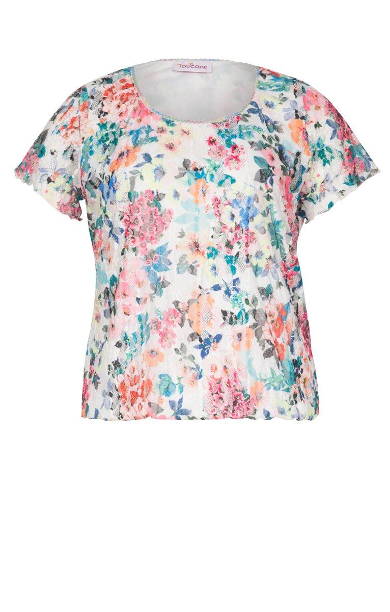 Tee-shirt imprimé avec croquet au col