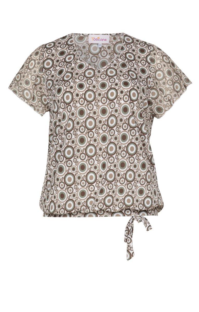 Tee-shirt imprimé avec noeud