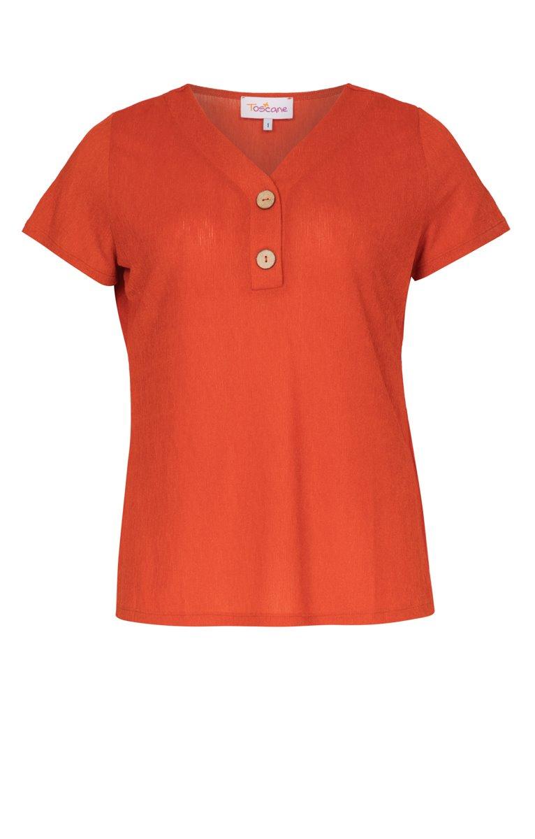 Tee-shirt uni avec boutons au centre