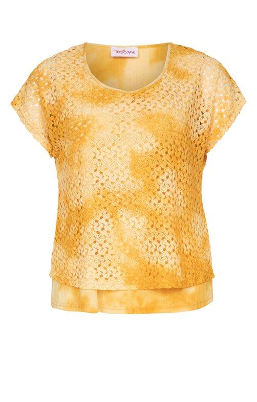 Tee-shirt avec dentelle colorée