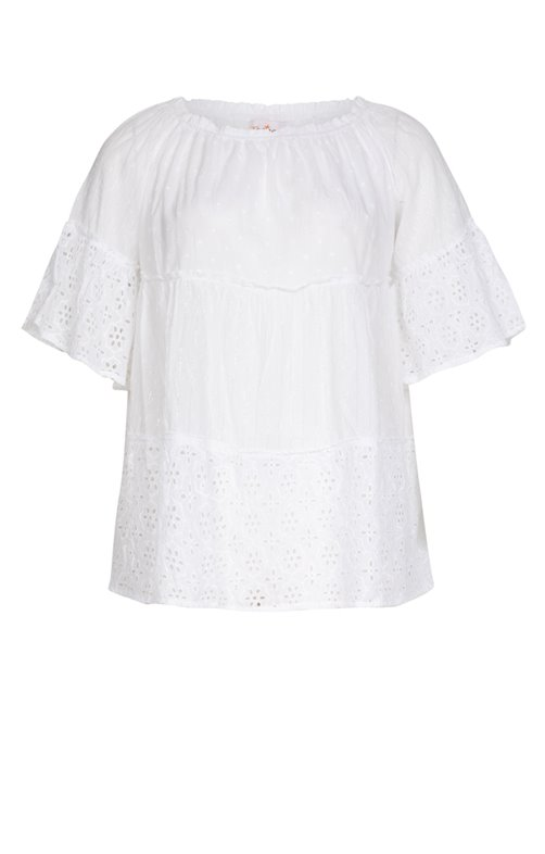 BLOUSE PATCH BRODERIE ANGLAISE