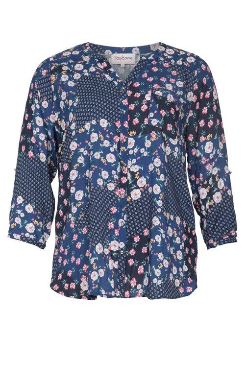 Chemise boutonnée col v