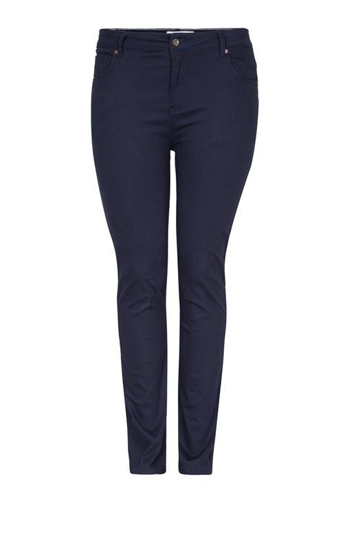 Pantalon avec rivets motif ancre