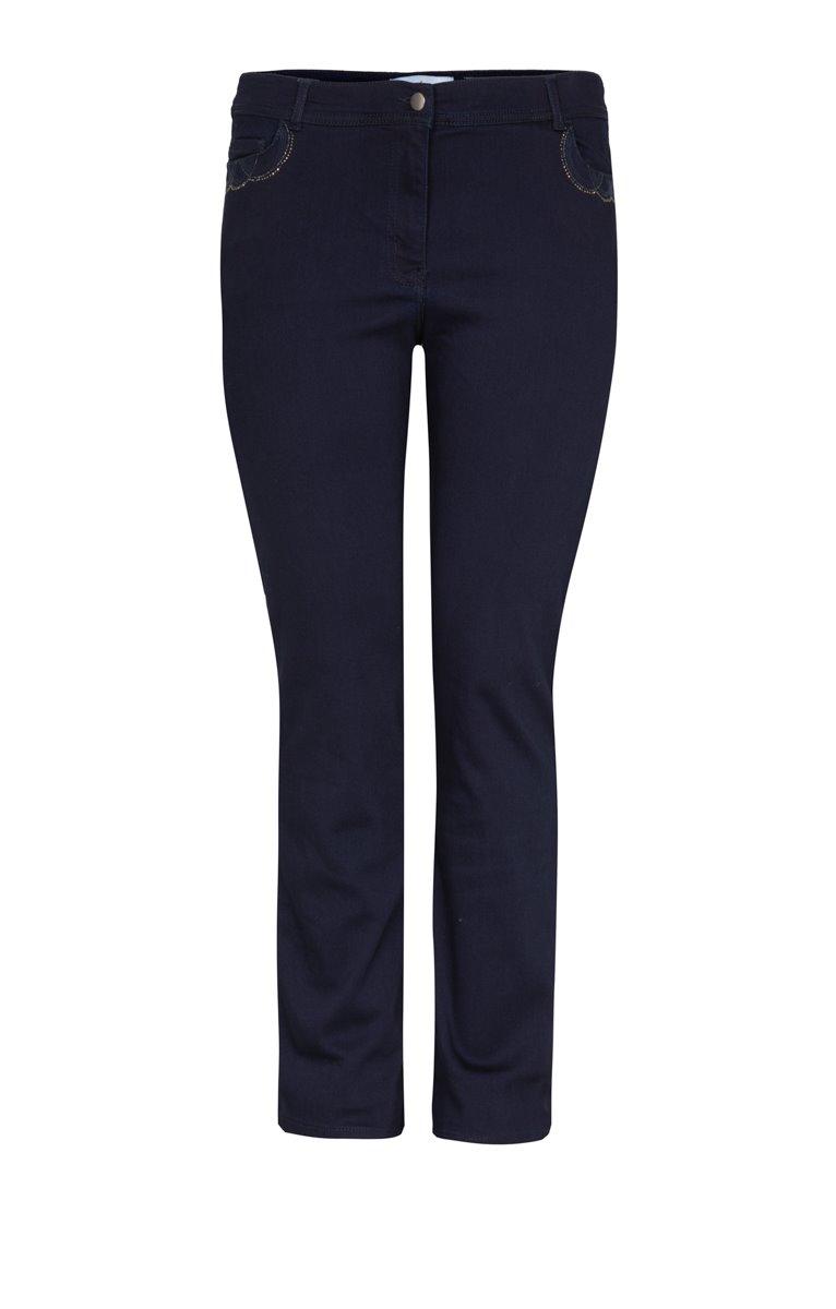 Pantalon large détails poches