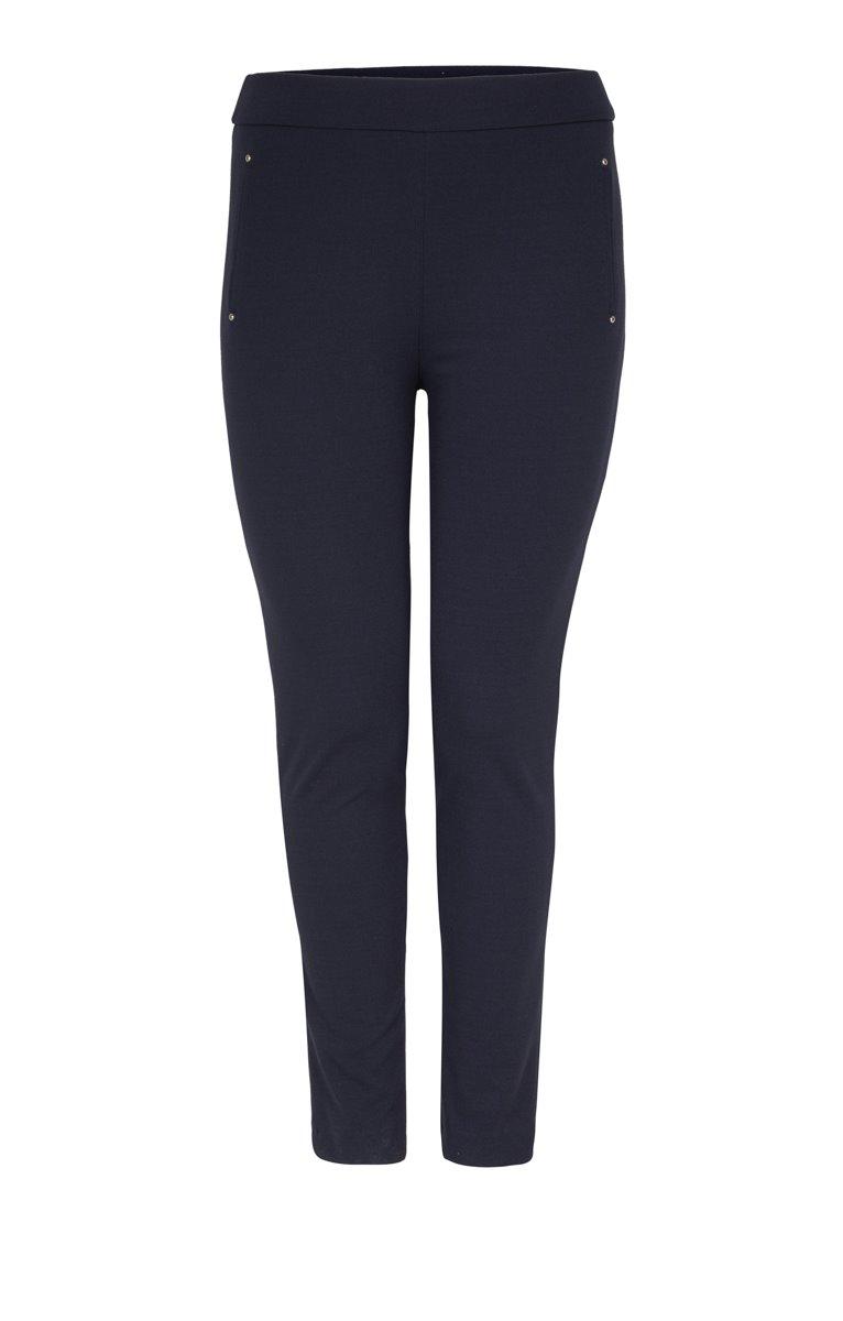 Pantalon droit à rivets