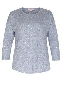 Tee-shirt chiné imprimé étoiles