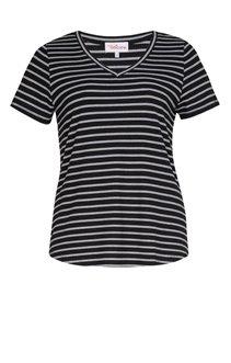 Tee-shirt en côte rayé