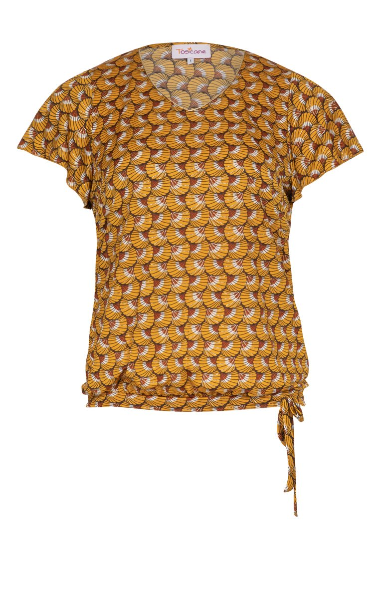 Tee-shirt imprimé avec manches en voile