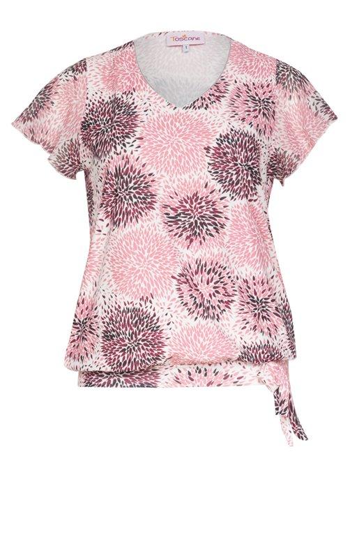 Tee-shirt imprimé avec manches papillon