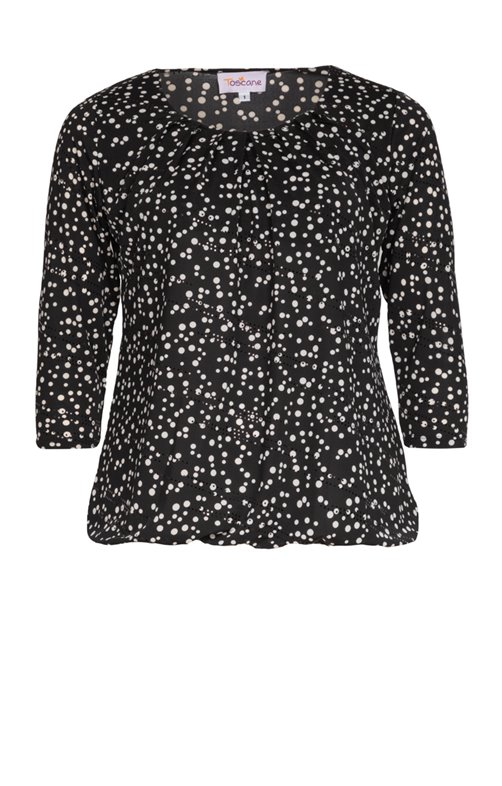 TEE-SHIRT TAILLE ELASTIQUEE A PAILLETTES