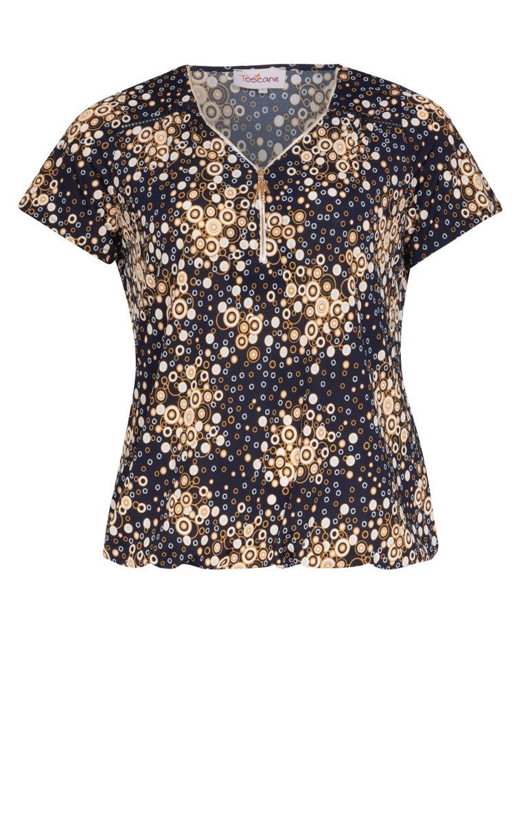 Tee-shirt imprimé avec détail bijou col
